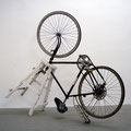 'Movement #1913–2007', wood, painted strechers, man's bicycle, 75 x 55 x 170 cm, 2007