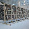 'untitled (corridor)', music cassettes, cable strips, screws, wood, carpet, 215 x 270 x 700 cm, 2009