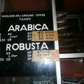コーヒー豆店で