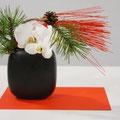 I. Offerhaus: Orchideen, Kiefer, rote Mizuhiki