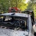 © Feuerwehr Völksen - PKW Brand - 22.08.2020