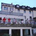 Da staunten die Koblenzer als die Fanfarenklänge über den Rhein schallten