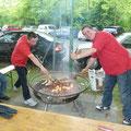 Sie grillten munter drauflos