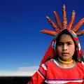 Tatei Nivétzica. Girl-goddess of Maize, Huichol culture, Mexico. 2001