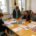 Vorbereitung der Medienkonferenz: V. Bolliger, U. Nakamura, M.Herrera und I. Schmidt
