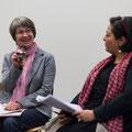 Die Leiterinnen der beiden Fachstellen für Gleichstellung: Sabine Kubli Fürst BL (links) und Leila Straumann BS, Foto Regine Flury