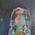 """""""Im Spiegel"""", Acryl/Mischtechnik auf Leinwand, 70 x 60 cm"""