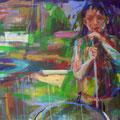"""""""Jonathan"""", Acryl auf Leinwand, 100 x 130 cm"""