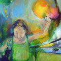 """Luftballons"", Acryl auf Leinwand, 50 x 40 cm"