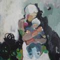 """""""Weißes Kind"""", Acryl auf Leinwand/Karton, 30 x 24 cm"""
