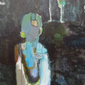 """Im Dunkeln"", Acryl auf Leinwand, 50 x 40 cm"