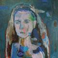 """Diana"", Acryl/Mischtechnik auf Leinwand, 70 x 60 cm"