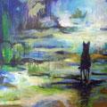 """Der Hund"", Acryl auf Leinwand, 60 x 80 cm"