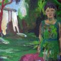 """Im Schilf"", Acryl auf Leinwand, 53 x 64 cm"