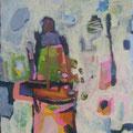 """Vorbei"", Acryl auf Leinwand, 59,5 x 51,5 cm"