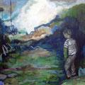 """""""Junge I"""", Acryl auf Leinwand, 50 x 60 cm"""