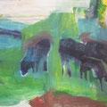 """Schafe"", Acryl auf Leinwand, 24 x 30 cm"