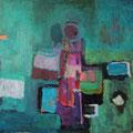 """""""Grün"""", Acryl auf Leinwand, 40 x 40 cm"""