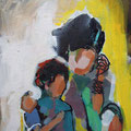 """Indien"", Acryl auf Leinwand/Karton, 30 x 24 cm"