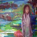 """""""Weiße Frau"""", Acryl auf Leinwand, 100 x 130 cm"""