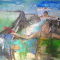 """Fliegen"", Acryl auf Leinwand, 80 x 100 cm"