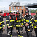 Asst Chief Szanto and FF Gorman (2nd and 3rd from left) along with NJ firefighters from Burlington County and Brielle