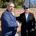 FFD Chief Piccola presents Cancun Chief Hurtado with an FFD cap