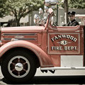 FF James Drewes driving Engine 3 in The Memorial Day Parade