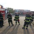 Live burn - Linden Fire Academy