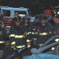 FF Brandon Stearns, FF Joe Route, FF Bill Mauer, FF Frank Dietl, FF Matt Hamill, and FF Doug Germinder - June 2009 Extrication Drill