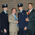 FF Kris Piccola (far right) at Union County Fire Academy Graduation June 2005