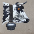 Darling - Acrylique sur toile de lin écru - 50 x 50 cm - 2016