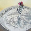 Le Grand Prix de Chantilly - Acrylique sur toile - 50 x 50 cm - 2015<br><br>Peinture . artiste peintre . humour . jeux de mot
