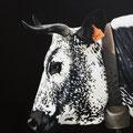 Iris II - Acrylique sur toile - 60 x 60 cm - 2019<br><br>Peinture vache . vache vosgienne . toile . peinture animalière . peintre animalier . race vosgienne