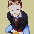 Victorin - Acrylique sur toile - 40 x 50 cm - 2014<br><br>Peinture . artiste peintre . portrait enfant