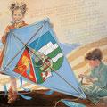 Jumelage Cornimont-Steinen - Acrylique sur toile - 80 x 60 cm - 2003<br><br>Peinture . artiste peintre