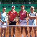 Damen 30/40/50: Beate Trapp/Tanja Eschmann (2. Platz, WSV) – Marlene Happek/Gaby Ries (1. Platz, TVA)