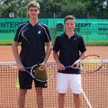 Junioren U18: Max Rücker (1. Platz, TVA) – Constantin Treitl (2. Platz, TCS)