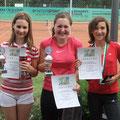 Valerie Kaiser (2. Platz), Xenia Malzer (Siegerin), Lea Bauer (3. Platz)
