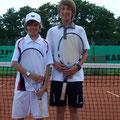 Junioren U14: Luca Vigener (1. Platz, TCS) - Luca Beham (2. Platz, TVA)