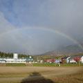 猪苗代小学校の虹
