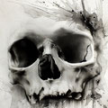 Dessin tatouage tête de mort