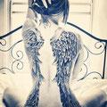Tatouage ailes ange femme dos