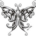 Dessin tatouage papillon celtique