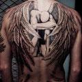 Tatouage dos ange