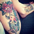 Tatouage femme chapeau hibou