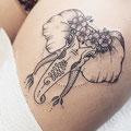 Tatouage cuisse éléphant