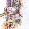 Dessin tatouage Pink Floyd