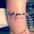 Tatouage Life Goes On