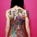 Tatouage de style japonais (geisha)